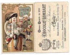 Chromo Chocolat LOMBART - SINCENY - Dégustation De VIN - Lombart