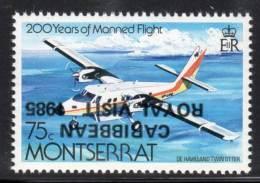 """MONTSERRAT - Surchage Renversée -  N°581 ** """"caribean Royal Visit 1985"""" - Montserrat"""