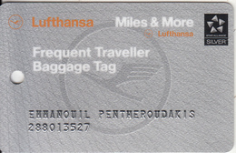 GREECE - LUFTHANSA Magnetic Silver Member Card, Used - Airplanes
