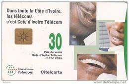 IVORY COAST - People On Telephones, Chip GEM1C, Used - Ivory Coast