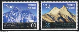 NEPAL 2016 - Monts Manasalu Et Lhotse - 2 Val Neuf // Mnh Adhesive - Nepal