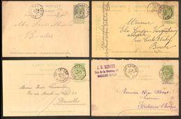 Lot Van 18 Postkaarten Met Enkele ZELDZAME Stempels In Variërende Staat ; Zie 5 Scans ! Inzet Aan 10 € ! LOT 129 - 1893-1907 Armoiries