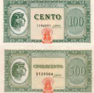 ITALIA-BANCONOTA-BUONO 100,500-FIORUCCI-1977 - [ 7] Errors & Varieties
