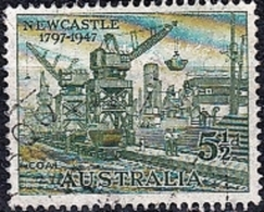 AUSTRALIA 1947 150th Anniv Of City Of Newcastle - 51/2d Coal Carrier Cranes  FU - Used Stamps