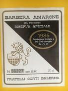 4712 - Barbera Amarone Del Piemonte 1985 Italie - Etiquettes