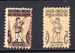 Viñetas Politica  Nº552/a  1591socorro Rojo De Cataluña.5c - Verschlussmarken Bürgerkrieg