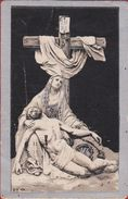 Henricus Valvekens Maria Cockaerts Anna Claes Messelbroeck 1836 1908 Pieta Litho (damaged) Doodsprentje Image Mortuaire - Imágenes Religiosas