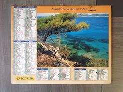 Calendrier ALMANACH Du Facteur PTT - 1999 - OBERTHUR - Port Cros Saint Malo - Pas De Calais 62 - Excellent état - Formato Piccolo : 1991-00
