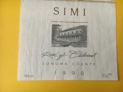 4718 -  Simi Rosé Of Cabernet 1990 Sonoma County Usa - Etiquettes