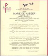 Devotie - Devotion - Marie De Vlieger - Erondegem 1893 - 1969 - Annaert - Overlijden