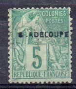 GUADELOUPE - YT N° 17aE - G.ADELOUPE - Signé - Unused Stamps