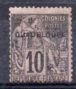 GUADELOUPE - YT N° 18aE - QUADELOUPE - Unused Stamps