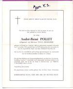 Devotie - Devotion - Andre Remi Pollet - Kortrijk 1909 - 1966 - Dejaeghere - Décès