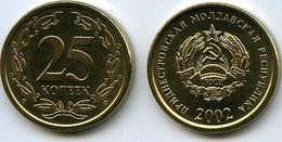 Moldavie Moldova Transdniestrie Transdnistria 25 Kopek 2002 UNC KM 5 - Moldavie