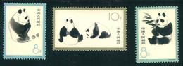 1963, Panda Bears Perforated Complete Mnh - Nuovi
