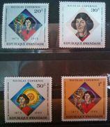 """RWANDA SET 4 PCS """"NICOLAUS COPERNICUS"""" 1973 MNH - Rwanda"""
