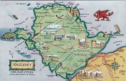 MAP CARD - ANGLESEY - Maps