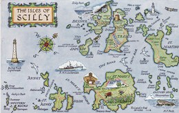 MAP CARD - ISLES OF SCILLY - Maps