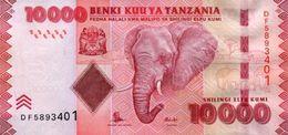 TANZANIA 10000 SHILLINGS ND (2015) P-44b UNC SIGN. UNKNOWN & NDULU [TZ143b] - Tanzania