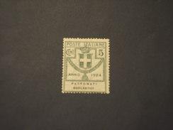 ITALIA REGNO - Enti Semistatali - VARIETA' - 1924 STEMMA 5 C., Con Punto Tra T.r (patronati) - NUOVO(++) - 1900-44 Victor Emmanuel III.