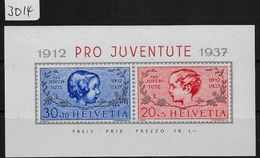 1937 Pro Juventute Block Bloc J83I-K84I Bl. 3 ** MNH - Blocs & Feuillets