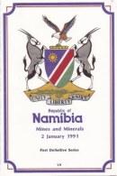 NAMIBIA, 1991, Mint FDC, Minerals On Card, MI Nr. 1.4,  F4008 - Namibië (1990- ...)