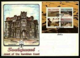 NAMIBIA, 1991, Mint FDC, Swakopmund, MI Nr. 1.11ms,  F4009 Miniature Sheet - Namibia (1990- ...)