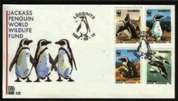 NAMIBIA, 1997, Mint FDC,  W.W.F. Penguins, MI Nr. 2.22,  F4050 - Namibië (1990- ...)