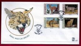 NAMIBIA, 1997, Mint FDC,  Wild Cats, MI Nr. 2.23,  F4052 - Namibia (1990- ...)