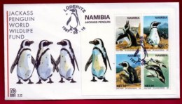 NAMIBIA, 1997, Mint FDC,  W.W.F. Penguins, MI Nr. 2.22ms,  F4049 - Namibia (1990- ...)