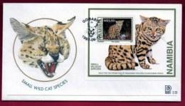 NAMIBIA, 1997, Mint FDC,  Wild Cats, MI Nr. 2.23ms,  F4053 - Namibia (1990- ...)
