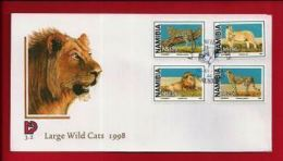 NAMIBIA, 1998, Mint FDC , Large Wild Cats, MI Nr. 3,02  F3608 - Namibia (1990- ...)