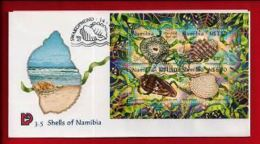 NAMIBIA, 1998, Mint FDC , Shells Of Namibia, MI Nr. 3.05ms  F3622 - Namibia (1990- ...)