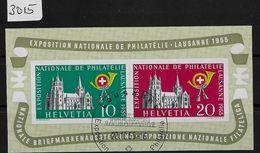 1955 Lausanne Block - Bloc W35/Bl. 15 O Sonderstempel - Expostition Nationale De Philatelie - - Blocs & Feuillets