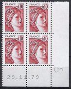 """FR Coins Datés Yt 1965 """" Sabine 10c. Rouge-brun """" Neuf**  Du 29.11.79 - Coins Datés"""