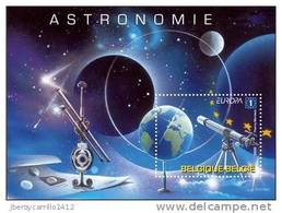 "BELGICA / /BELGIUM /BELGIQUE / BELGIEN - EUROPA 2009 - ""ASTRONOMIA"" -  HOJITA BLOQUE  DENTADA  ( PERFORATED) - Europa-CEPT"