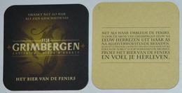 Sous-bock GRIMBERGEN Abdijbier Bière D'abbaye Het Bier Van De Feniks (phénix Phoenix) Bierdeckel Bierviltje Coaster (CX) - Sous-bocks
