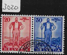 1936 Pro Patria Block Ausschnitt Z24/A295-A296 O - Blocs & Feuillets