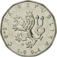 République Tchèque, 2 Koruny, 1994, SUP, Nickel Plated Steel, KM:9 - Tchéquie