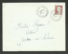 37 - Dpt. INDRE ET LOIRE / Recette Distribution CONTINVOIR / Marianne De Decaris 1964 - Postmark Collection (Covers)