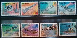 "RWANDA SET 8 PCS ""WERNHER VON BRAUN"" 1977 MNH - Rwanda"