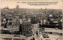 CPA PARIS 5e Panorama Vers Le Panthéon Pris De Notre-Dame (302774) - France