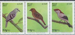 Brasil 2017 **  Aves: Pararu, Rolinha, Soldadinho.  See Desc. - Unused Stamps
