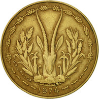 West African States, 5 Francs, 1974, Paris, TTB, Aluminum-Nickel-Bronze, KM:2a - Monnaies