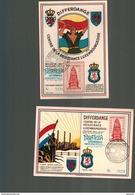 Luxembourg      2 Cartes De Souvenir De 1945 Philatélia Differdange - Luxembourg