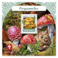 GUINEA BISSAU 2017 ** Mouse Maus Souris Mushrooms S/S - OFFICIAL ISSUE - DH1731 - Rongeurs