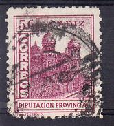 CADIZ 1937.CORREOS.DIPUTACION PROVINCIAL. 5 Cts. LA CATEDRAL  .FESOFI Nº 89 USADOCECI 2.29 - Emissions Nationalistes