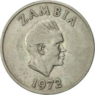 Zambie, 20 Ngwee, 1972, British Royal Mint, TTB, Copper-nickel, KM:13 - Zambie
