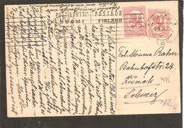 Finland. Postikortti Postkort Michel 41 Norma 12 Ia Ulk.Censor-Zensur-Nachricht Lesen!-TURKU>Schweiz 7.8.18 - Finlande