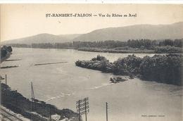 ST-RAMBERT-d'ALBON . VUE DU RHONE EN AVAL . CARTE NON ECRITE - France
